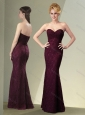 Latest Column Sweetheart Burgundy Mother of The Groom Dress