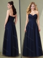 Pretty Empire Sweetheart Mother of The Groom Dress in Navy Blue