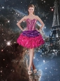 2016 Gorgeous Sweetheart Short Dama Dresses for Quinceanera with Pick Ups