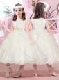 Exclusive Ball Gown Applique and Belted Flower Girl Dress with Scoop