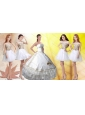 Beautiful White Applique and Beaded Quinceanera Dress and Short Scoop Dama Dresses