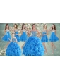 Customized Ball Gown Beaded Sweet 16 Gown and Sequined Short  Dama Dresses Ruffled Mini Quinceanera Dress