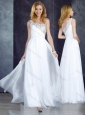 Cheap Custom Fit Empire One Shoulder Beaded White Bridesmaid Dress