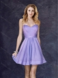 Cheap New Arrival Lavender Short Prom Dress with Belt