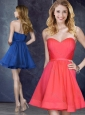 Custom Fit Belted Short Prom Dress in Red