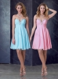 Exclusive Empire Chiffon Short Prom Dress with Beading and Ruching