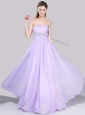 Exclusive Empire Button Up Beaded and Ruched Homecoming Dress in Lavender