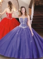 Best Selling Tulle Beaded Sweet 16 Dress in Purple for 2016