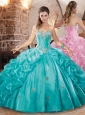 Beautiful Really Puffy Quinceanera Dress with Beading and Pick Ups