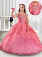 Cute Off the Shoulder Rose Pink Mini Quinceanera Dress with Beading