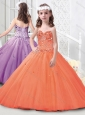 Hot Sale Spaghetti Straps Tulle Mini Quinceanera Dress with Beading