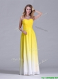 Discount Empire Sweetheart Ruched Long Dama Dresses for Quinceanera in Gradient Color