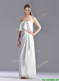 New Arrivals Empire Strapless Ankle Length Mother of the Bride Dress in White