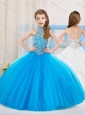 Popular Ball Gown Beaded Little Girl Pageant Dress with Halter