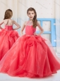 Pretty Halter Organza Beading Mini Quinceanera Dress in Coral Red