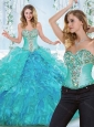 Luxurious Really Puffy Rhinestoned and Ruffled Detachable Sweet 16 Quinceanera Dress