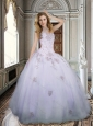 Best Selling Tulle Beaded and Applique Quinceanera Dresses in Lavender
