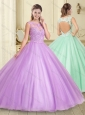 Exclusive Applique with Beading Scoop 15 Quinceanera Dress in Lilac