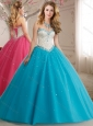 New Arrivals Princess Beaded Bodice Tulle 15 Quinceanera Dress in Tea