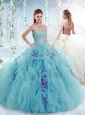 Unique Puffy Skirt Detachable Quinceanera Dresses with Beading and Ruffles