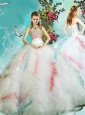 Lovely Puffy Skirt Sweet 16 Dress with Beaded Bust and Ruffles