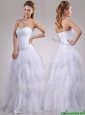 2016 Popular A Line Sweetheart Tulle Wedding Dress with Beading