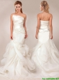Beautiful Mermaid Asymmetrical Wedding Dresses with Ruffles Layers