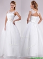 Pretty See Through Scoop Organza Beautiful Wedding Dress with Hand Crafted