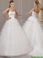 Popular Ball Gown Court Train Wedding Dresses with Appliques and Ruching