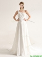 Popular One Shoulder Court Train Wedding Dresses with Beading and Ruching