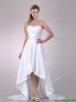 Popular High Low Wedding Dresses with Hand Crafted and Ruching