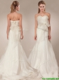 The brand new style Mermind Wedding Dresses with Bowknot and Ruching