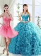 Classical Big Puffy Beaded Detachable Quinceanera Skirt in Rolling Flower