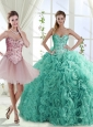 Decent Rolling Flowers Really Puffy Detachable Quinceanera Skirt with Beading