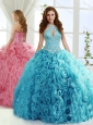 Fashionable Halter Top Detachable Quinceanera Skirt with Beading and Appliques