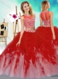 New Style Two Piece Scoop Perfect Quinceanera Dress with Beading and Ruffles