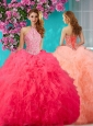 Romantic Beading and Ruffles Halter Top 15 Quinceanera Dress with Puffy Skirt