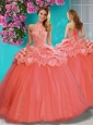 Discount Beaded and Ruffled Big Puffy Quinceanera Dress with Halter Top
