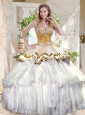 Pretty Big Puffy Quinceanera Dress with Beading and Ruffles Layers