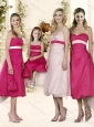 2016 Elegant Sashed and Ruched Bridesmaid Dress in Baby Pink