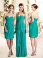 2016 Popular Empire Sweetheart Bridesmaid Dress with Sashes and Ruching