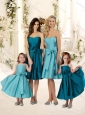 The Super Hot Knee Length Bridesmaid Dress with Bowknot