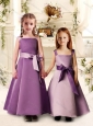 Lovely Bowknot Spaghetti Straps Bridesmaid Dress with Satin