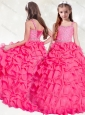New Arrivals Beaded and Ruffled Mini Quinceanera  Dress in Hot Pink