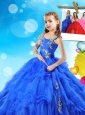 Fashionable Beaded and Ruffled Layers Mini Quinceanera Dress in Royal Blue