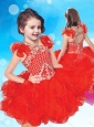 Exclusive Beaded and Ruffled Halter Top Little Girl Mini Quinceanera Dress with Criss Cross