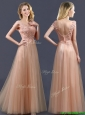 Top Selling V Neck Long Prom Dress with Appliques and Beading