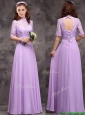 2016 Perfect High Neck Handcrafted Flowers Mother of the Bride Dresses  with Half Sleeves