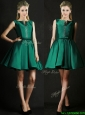 Classical A Line Green Short Mother of the Bride Dresses with Beading and Belt
