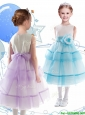Discount Scoop Organza Flower Girl Dress with Little Girl Pageant Dress and Ruffled Layers